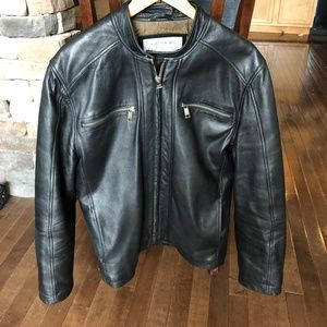 Andrew Marc NY Dress Lamb Skin Motorcycle Jacket